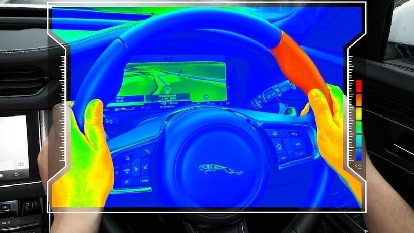 Jaguar-Land Rover sperimenta il volante caldo/freddo