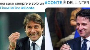 """Conte divide gli interisti sui social, i tifosi della Juve: """"Togliete la stella allo Stadium"""""""
