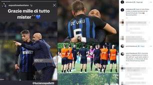 Inter: da Handanovic a De Vrij, quanti messaggi per Spalletti