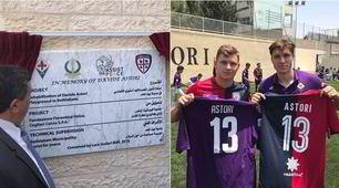 Cagliari e Fiorentina uniti per Astori: dedicato a lui il campo a Betlemme