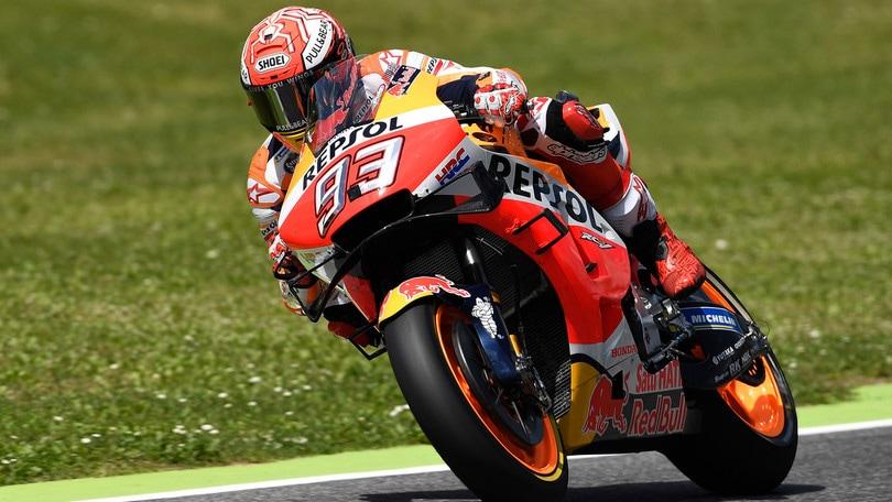 Mugello: Marquez in pole, Valentino Rossi 18esimo