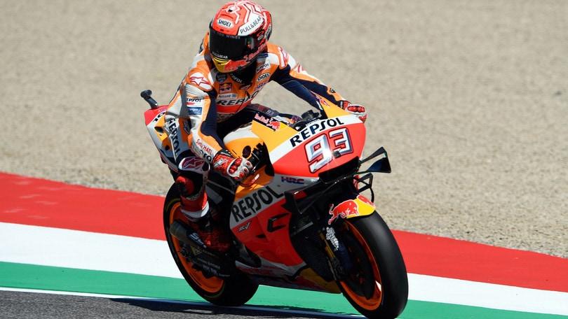 MotoGp: al Mugello comanda Marquez, vittoria a 1,70
