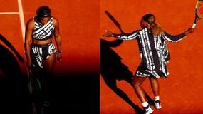 Serena Williams, completo con il mantello al Roland Garros