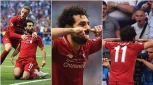 Salah, che esultanza in faccia ai tifosi del Tottenham!
