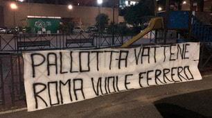 """Nuovi striscioni contro Pallotta a Roma: """"Vogliamo Ferrero"""""""