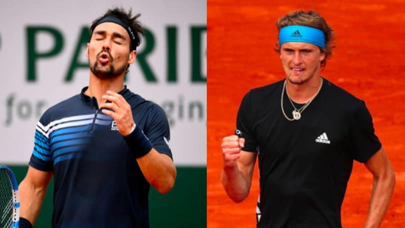 Fognini fuori dal Roland Garros, Zverev ai quarti