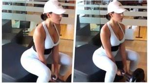 Georgina supersexy anche quando si allena