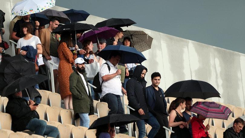 Roland Garros sospeso: pioggia su Parigi