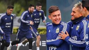 Dybala, che sorrisi con l'Argentina