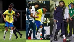 Neymar ko: stampelle e lacrime nell'amichevole con il Qatar