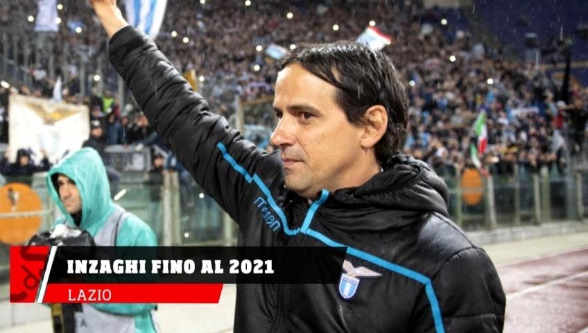 Lazio, Simone Inzaghi fino al 2021