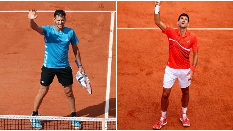 Thiem-Djokovic è la seconda semifinale del Roland Garros