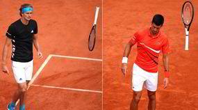 Djokovic-Zverev: le racchette volano!