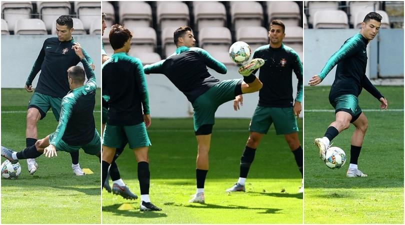 Cristiano Ronaldo, lo show in allenamento incanta tutti