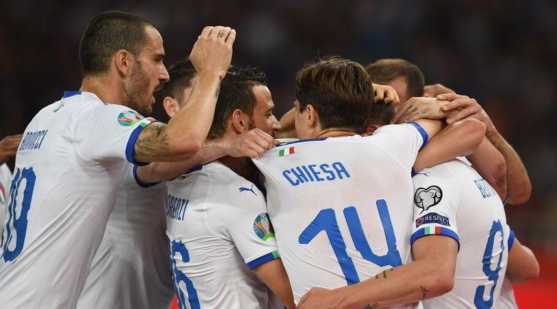 Grecia-Italia 0-3: tris per Mancini, azzurri primi nel gruppo J