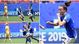 Italia-Australia, Bonansea come Totti: esultanza col ciuccio