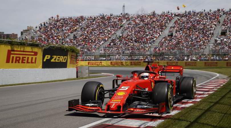 Ferrari davanti in Canada: Vettel comanda a metà gara