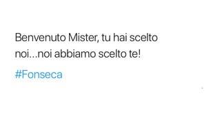 """La nuova Roma a Fonseca. I tifosi: """"Hai tutto il nostro sostegno"""""""