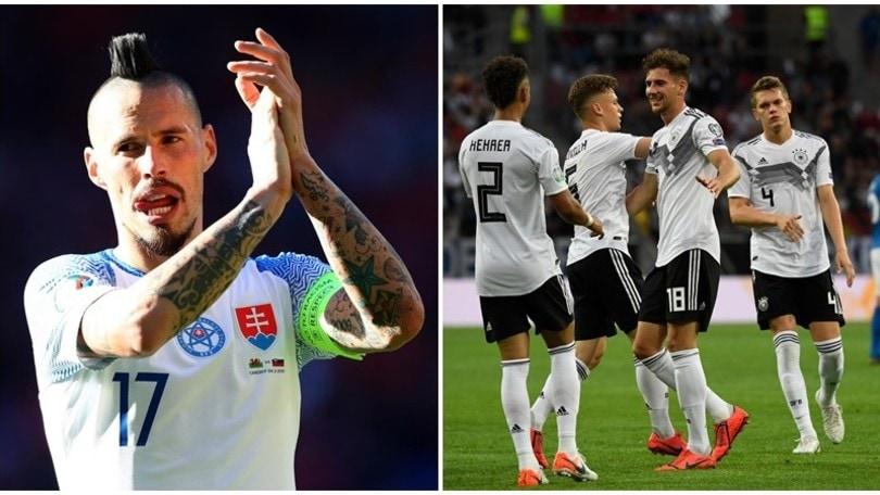 Qualificazioni Euro2020, show di Hamsik! La Germania esagera: 8-0!