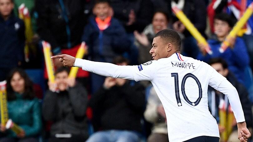 Mbappé fa 100, il gol contro Andorra lo consegna alla storia