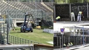 Il Brescia si prepara alla Serie A, ruspe e operai allo stadio Rigamonti