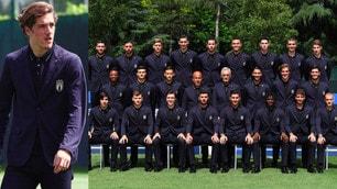 Italia Under21, in posa per la foto ufficiale: c'è anche Zaniolo
