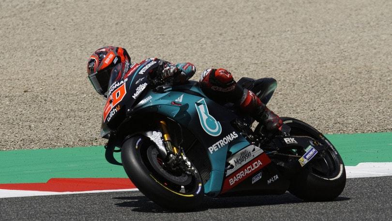 Gp Catalogna: Marquez e Quartararo accendono le libere, Valentino Rossi nono