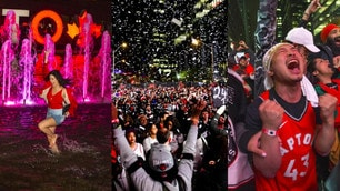 Festa a Toronto, tifosi in delirio per il trionfo dei Raptors