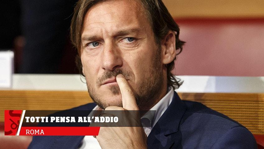 Roma, Totti pensa all'addio