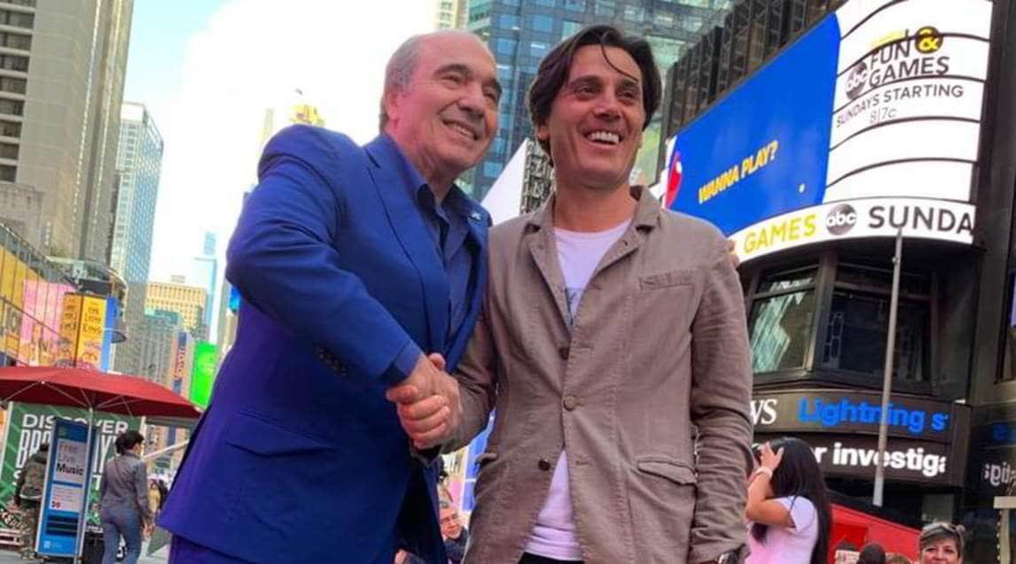 <p>Il nuovo patron della Fiorentina ha incontrato e confermato l'allenatore per la prossima stagione (servizio di Massimo Basile)</p>