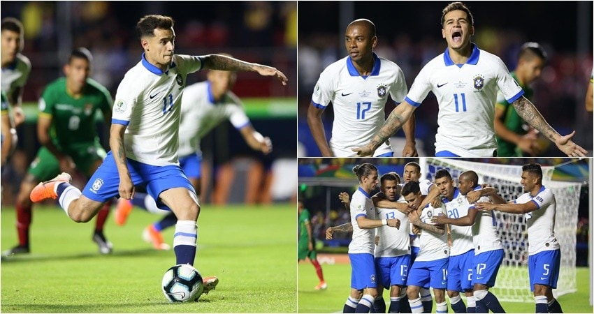 Coutinho stende la Bolivia! Tris Brasile in Copa America