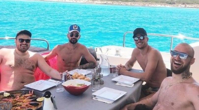 Milinkovic, paella in barca a Formentera in attesa del futuro