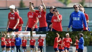 Mondiali femminili: l'Italia torna in campo per preparare la sfida col Brasile. Tanti sorrisi e volti distesi