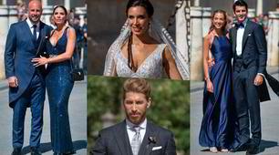 Sergio Ramos, matrimonio show: sfilata di ospiti vip