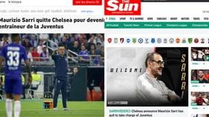 """Sarri alla Juve, la reazione della stampa inglese: """"Sarrivederci"""""""