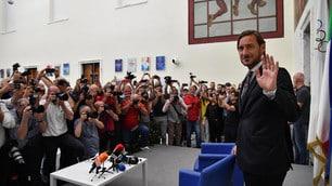 Totti, le foto della conferenza stampa