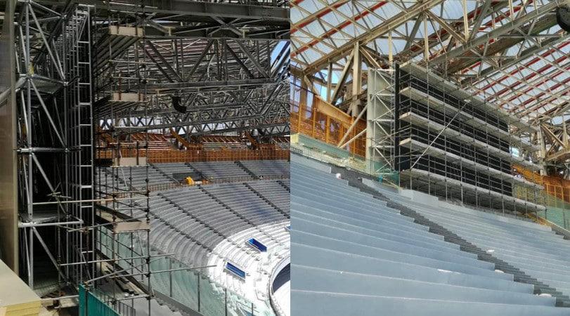 Napoli, nuovo San Paolo: installati anche i maxi-schermi
