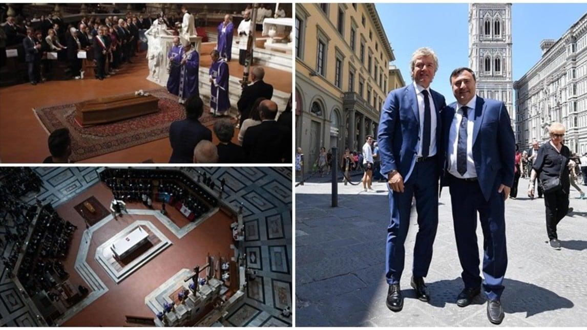 L'ex bandiera Viola, in compagnia del braccio destro del neo-patron Commisso, Joe Barone, rende omaggio al genio fiorentino