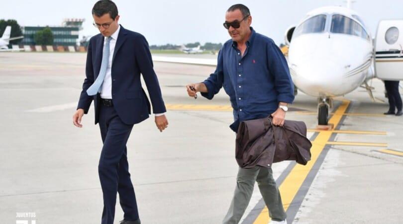 Juve, Sarri è atterrato a Torino