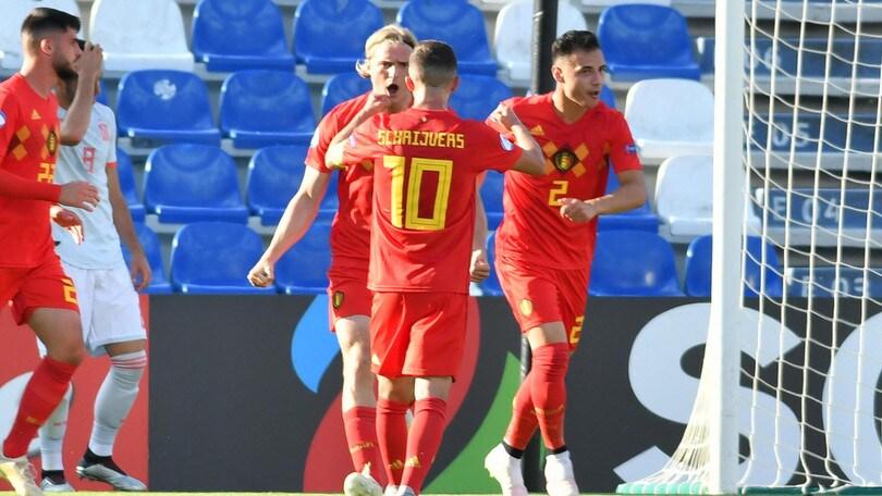 Europei U21: Spagna batte Belgio 2-1