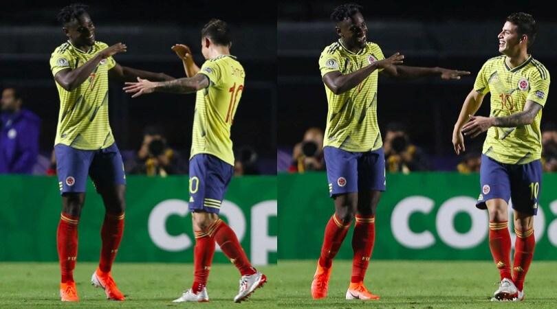 Zapata e James Rodriguez lanciano la Colombia: 1-0 al Qatar