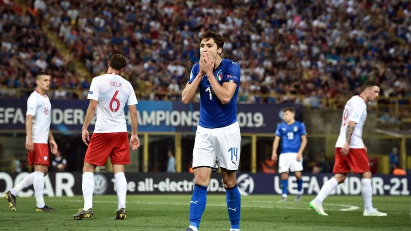 Europei U21: Italia ko, quote in salita per gli azzurri