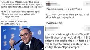 Sarri si presenta alla Juventus. Le reazioni social dei tifosi del Napoli