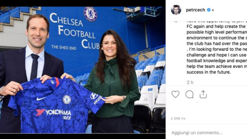 """Cech torna al Chelsea come consulente tecnico: """"Sono un privilegiato"""""""
