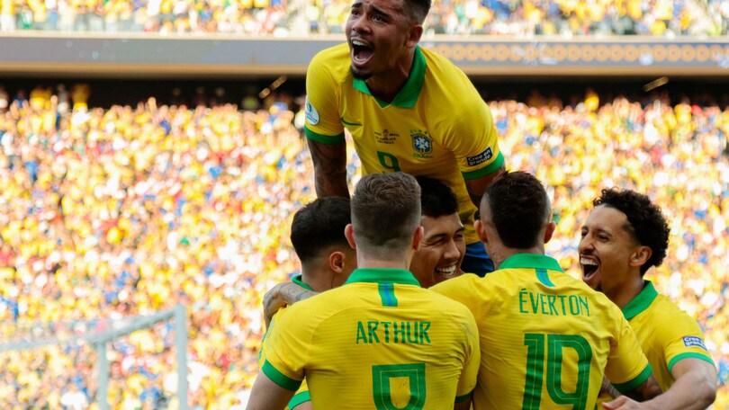 Brasile, manita al Perù e qualificazione ai quarti di Coppa America