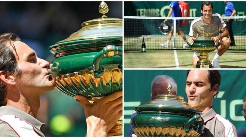 Federer, che cannibale! 10° successo ad Halle, 102° in carriera