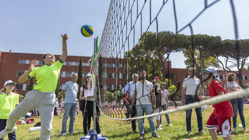 Gioca Volley S3, festa di bambini alla Farnesina