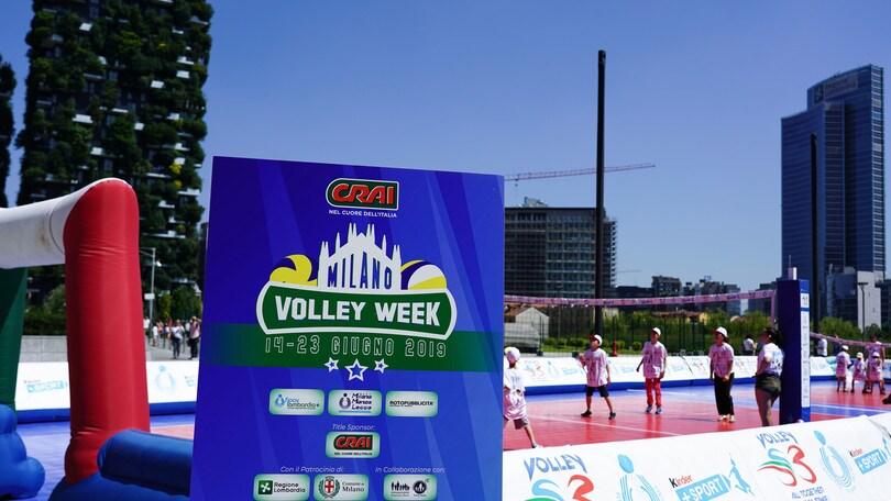 Il volley S3 grande protagonista in Piazza Gae Aulenti a Milano