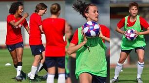 Italia donne, sorrisi e pallamano in allenamento