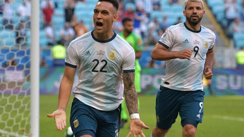 Copa America: Argentina ai quarti, in gol Lautaro Martinez
